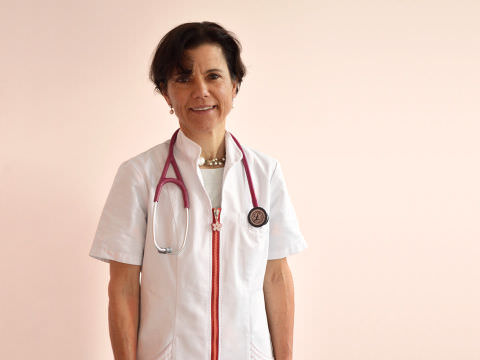 Il medico veterinario Anja Ballinari